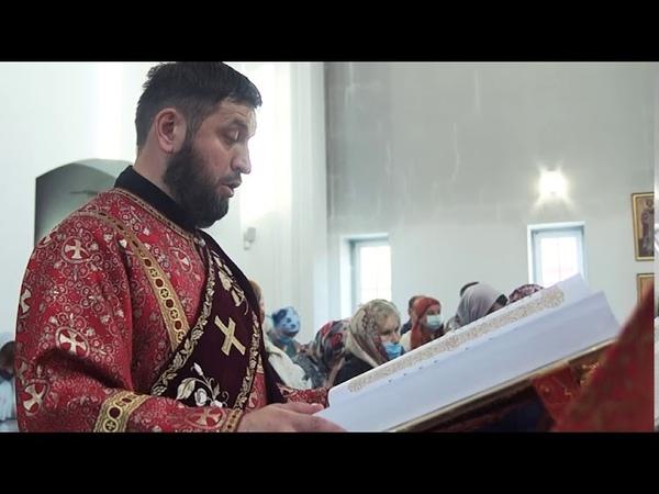 Чтение Евангелия в день празднования Веры Надежды Любови и матери их Софии