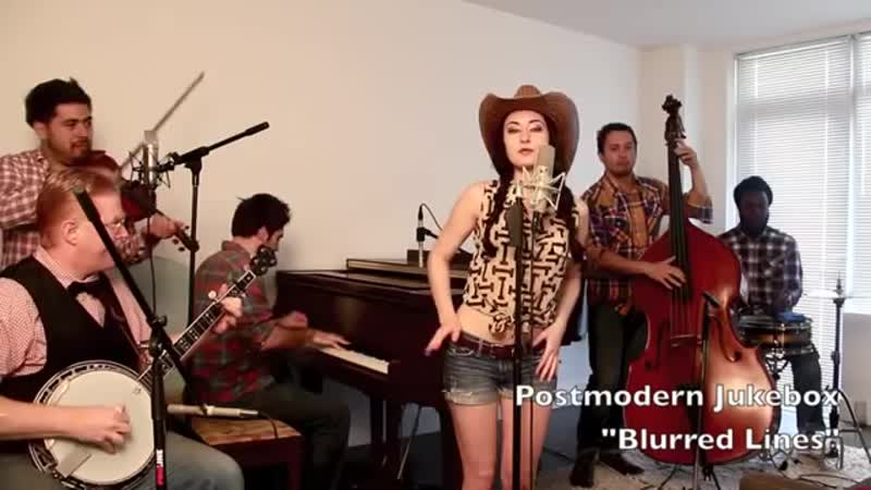 Blurred Lines - Vintage Bluegrass Barn Dance Robin Thicke Cover feat. Robyn Adel