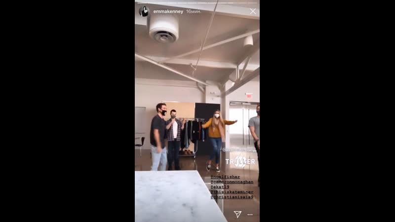 Каст Бесстыжих на съёмках промоушена