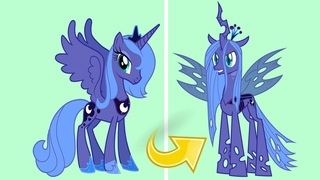 MLP Princess Luna as Queen Chrysalis