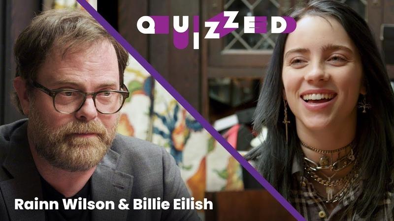 Billie Eilish gets QUIZZED by Rainn Wilson on 'The Office'