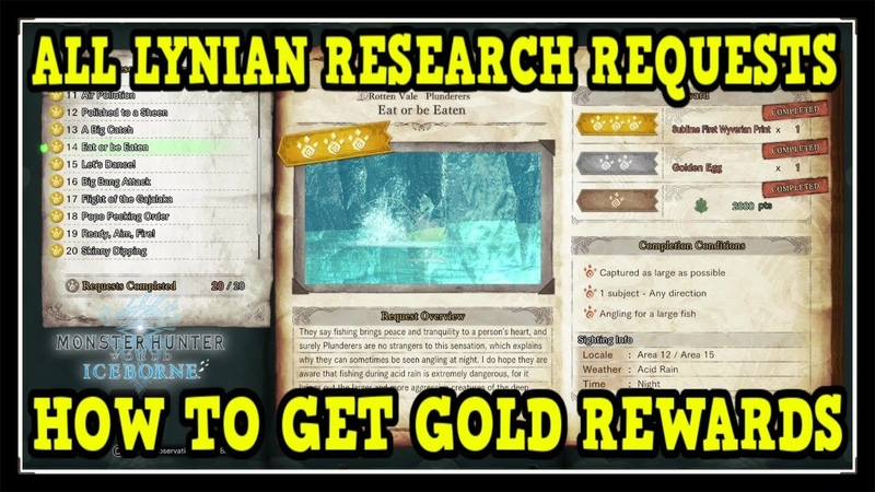 MHW Iceborne All Lynian Researcher Requests with 3 ⭐ Gold Rewards Outstanding Observer Trophy Guide