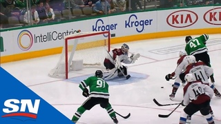 Alexander Radulov's Slick No-look Pass Sets Up Tyler Seguin's Goal