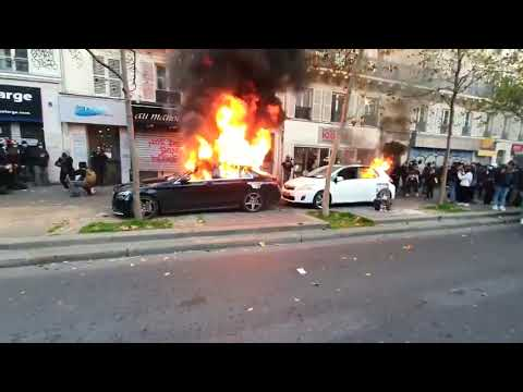 Столкновения в Париже между полицией и демонстрантами Paris protest against a new security law