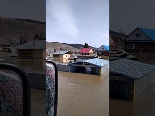 В Башкирии из-за резкого подъема уровня воды в реке Инзер эвакуируют жителей села Ассы