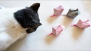 Origami Mouse for Your Cat Ratón de papel para tu gato