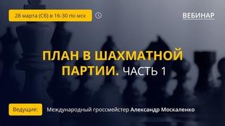 """Вебинар GM Александра Москаленко """"План в шахматной партии. Часть 1"""""""