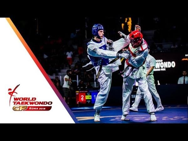 Roma 2018 World Taekwondo GP Final Male 80Kg KHRAMTCOV MAKSIM RUS Vs MARTINEZ GARCIA RAUL ESP