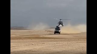 El extraño accidente entre un camión Kamaz y un helicóptero de prensa en el Dakar 2021