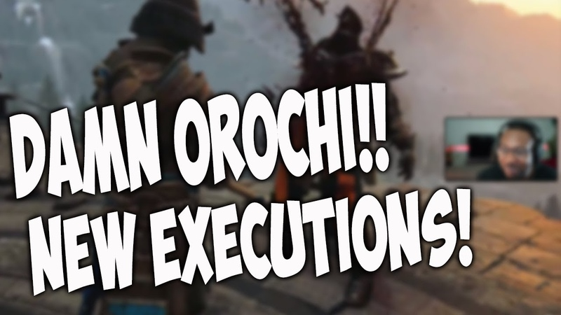 For Honor New Executions Reactions - OROCHI DAMNNNN [Marching Fire Season 8]
