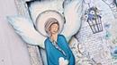 Decoupage błękitny aniołek - DIY tutorial