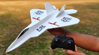 How To Make Mini RC Airplane | F-22 Raptor