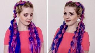 Итоги конкурса/ Объемные и воздушные косы с КАНЕКАЛОНОМ // Dutch Braids with Kanekalon Hair