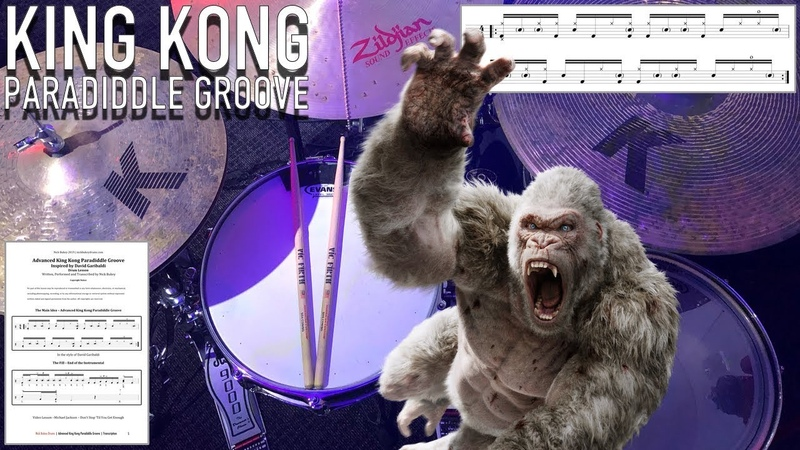 Advanced King Kong Paradiddle Groove - Inspired By DAVID GARIBALDI - Drum Lesson by Nick Bukey