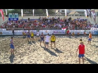 Detono Zagreb - Panaitolikos. Beach Handball Final Master EBT 2011 Fuengirola
