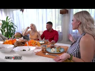 Casca Akashova, Aria Banks - Taboo Fucksgiving порно porno