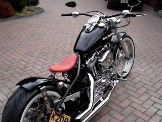 Harley Davidson 1200 sportster bobber chopper UK hard tail
