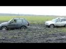 дастер нива шеви ховер и ниссан по грязи