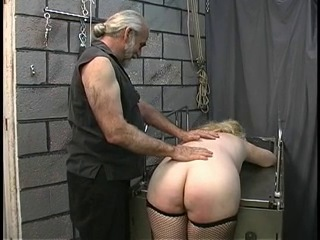 Mature BBW blonde gets tortured in dungeon by two old men - xHamster_com