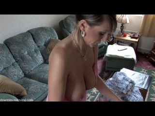 My mother ironing oops tits 2
