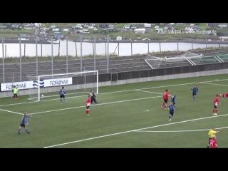 Гол Гуннара Закариасена в ворота Б68 20 08 2014