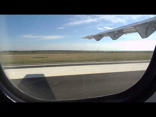 Руление и взлет на ATR 72 212A с аэропорта Луганск