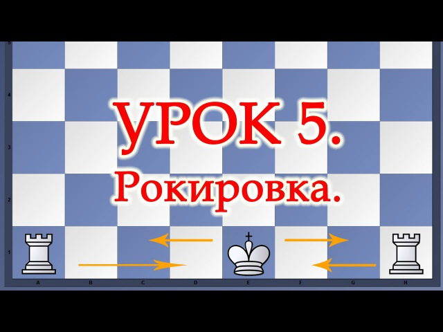 Как правильно делать рокировку в шахматах Урок 5 для начинающих