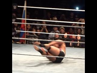 Mark Torres on Instagram: John Cena hits the Five Knuckle Shuffle on Rusev tonight in Brooklyn! #wwe #WWEBarclays #wwelive #johncena #cena #cenation #Rusev