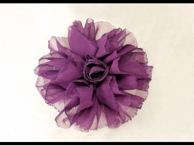 DIY How to make Shaby Chic Fabric Flower Tutorial