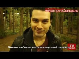 Behind the Scenes on the Set of TVD with Michael Malarkey [Русские субтитры]