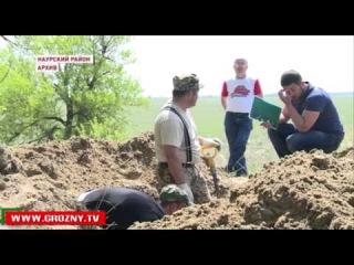 В Знаменском прошло перезахоронение останков неизвестных солдат