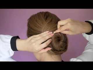 Sophisticated twisting bun hair tutorial