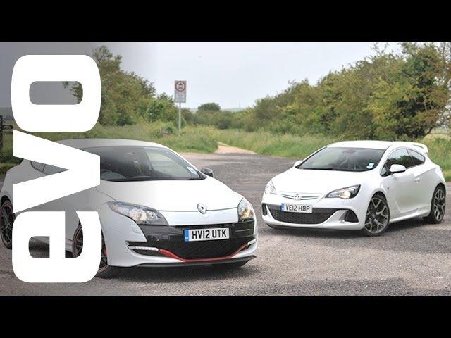 Драг Vauxhall Astra VXR Opel Astra OPC J vs Renault Megane 265 Cup европейская модификация NaZa5aske