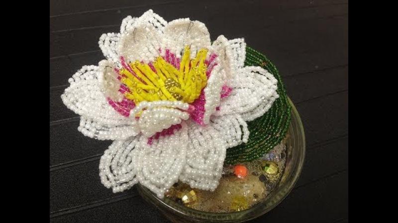 Glasperlen Seerose aus Perlen für Anfänger Teil 2 2 Beaded water lily