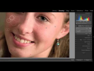 Adobe Lightroom 5 Free Course - Healing Skin Spotskj