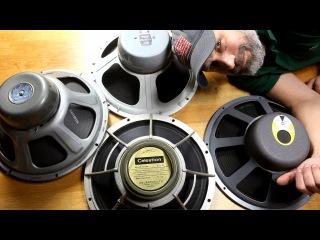 4 Vintage 15 Inch Guitar Speakers Comparison - Shootout Celestion Vs Jensen Vs JBL Vs Altec Lansing