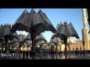 Пайғамбар (сас) мешітінің айналасындағы шатырлардың жабылу сәті Мадина қаласы