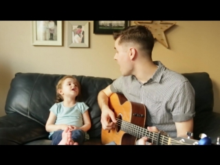 Youve got a friend in me live performance by 4-year-old claire ryann and dad