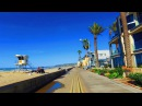 Walking around Mission Beach and Pacific Beach Boardwalk in San Diego California 4K