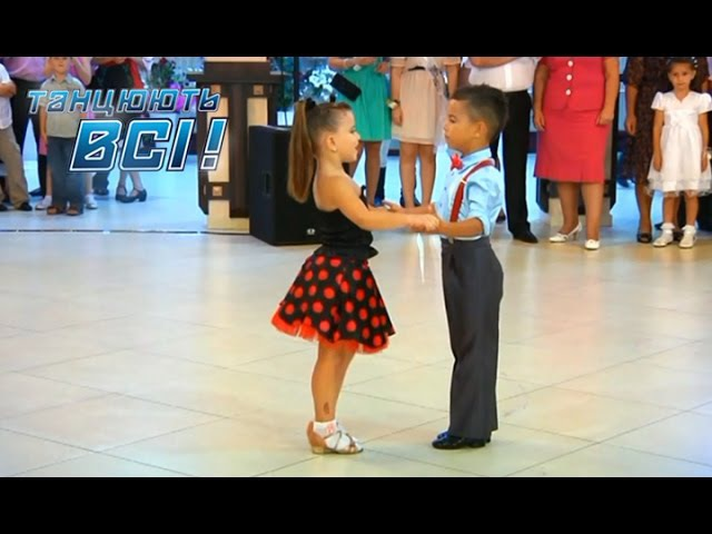 Видео покорившее весь мир Зажигательный танец юных бальников