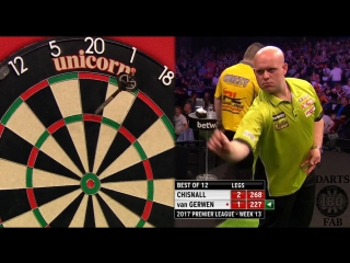 Dave Chisnall vs Michael van Gerwen (2017 Premier League Darts / Week 13)