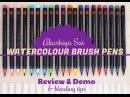 маркеры Akashiya SAI Brush Pen Akashiya Sai watercolour brush pens   Review Demo blending tips lovesummerart