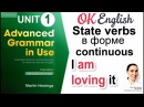 Unit 1 State verbs non continuous verbs Present Simple и Continuous📗Advanced English Grammar