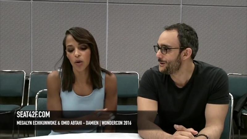 Megalyn Echikunwoke Omid Abtahi Damien WonderCon 2016 Interview