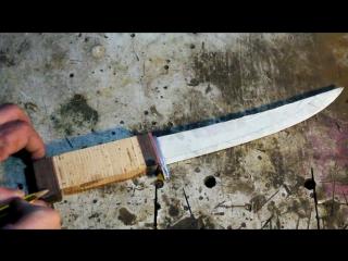 Филейный нож из стали Sandvik 12c27