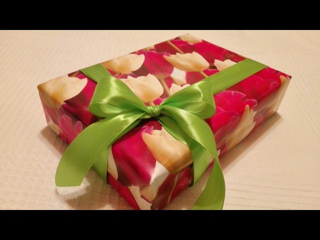 Как Завязать Классический Простой Бант на Подарке