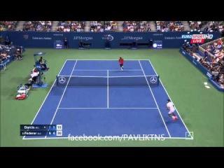 Roger Federer vs Steve Darcis Highlights ᴴᴰ US OPEN 2015