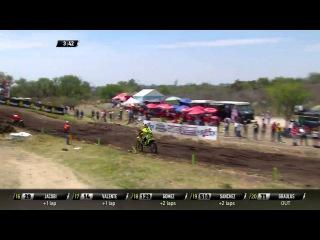 MXGP of Leon MX2 race 1 Vsevolod Brylyakov passes Jeremy Seewer