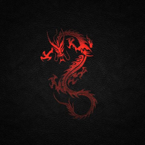 виде картинка красного дракона на черном фоне савская один