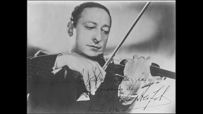Heifetz plays Sinding Suite in A minor - I Presto